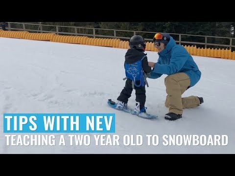 How To Teach A Two Year Old To Snowboard