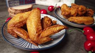 WHICH IS BETTER? Air Fryer or Oven? Crunchy Wings! Turmeric Chicken Wings