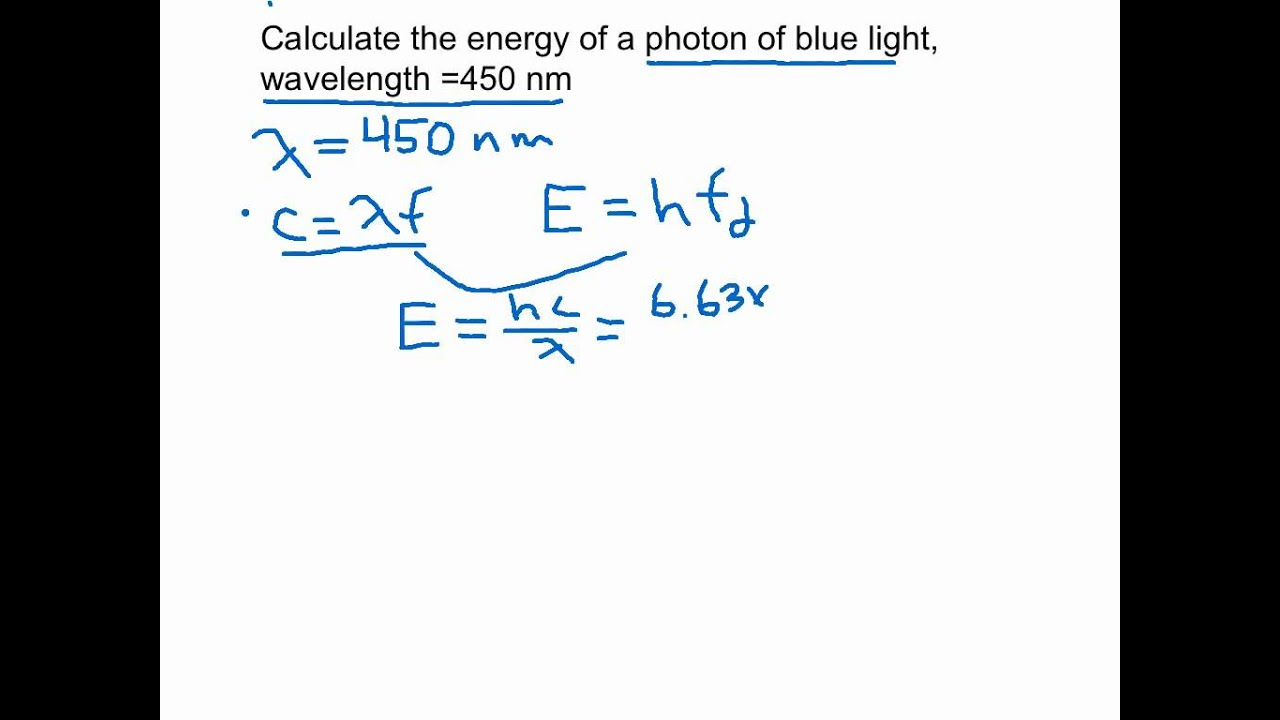 Calculating the energy of a photon - YouTube
