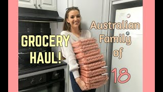 GROCERY HAUL - Large Australian Family of 18