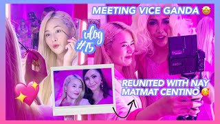 MEETING VICE GANDA 🤩✨ + REUNITED WITH NAY MATMAT CENTINO  🙈💕 (FIRST MAKE-UP EVENT AS A VLOGGER!!)