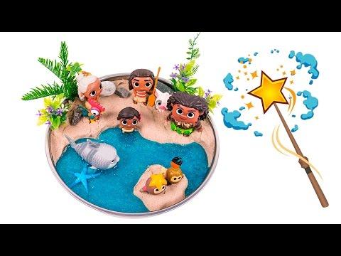 Moana Shiny Beach! DIY How to Make Kinetic Sand Beach Scene #00 - By MagicPang