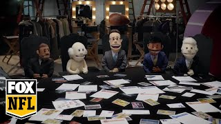 Puppet FOX NFL Sunday crew hold intervention for Rob Riggle | RIGGLE'S PICKS | FOX NFL