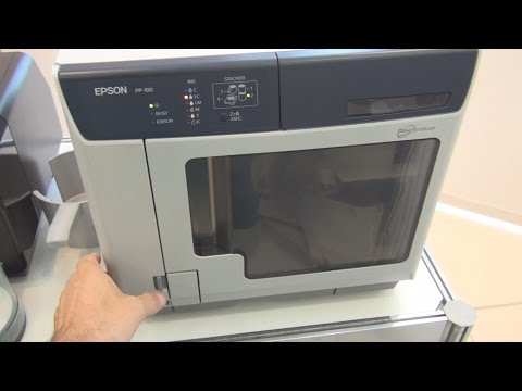 Epson PP-100 Discproducer printer and CD/DVD writer, review in 3D