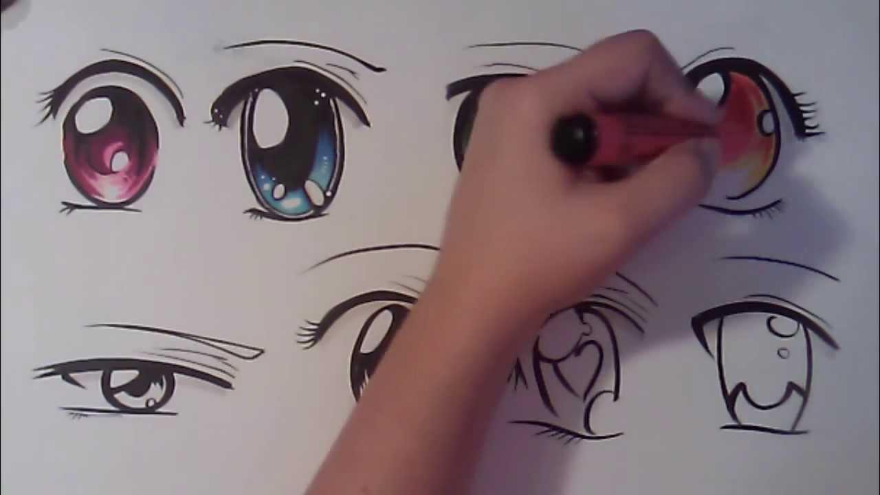 How To Draw Anime Eyes Fun2draw
