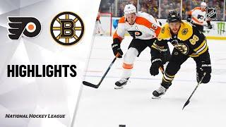 NHL Highlights | Flyers @ Bruins 11/10/19