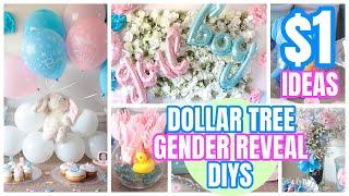 DOLLAR TREE GENDER REVEAL│BABY SHOWER│DIY & IDEAS