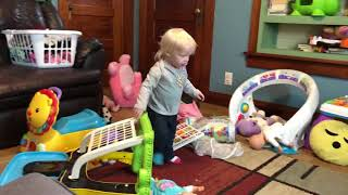 Funny stunt baby and paw patrol