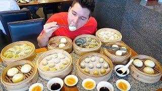 100 Dumplings Challenge • All You Can Eat Buffet • MUKBANG