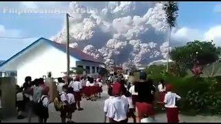 Update Mount Sinabung Volcano Eruption, Sumatra Island Indonesia