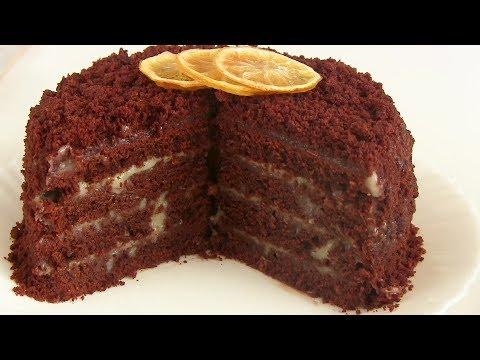 Торт Супер-шоколадный с лимонным курдом