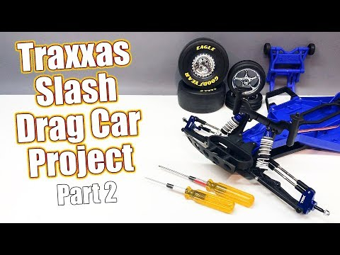 The Go FAST Build Begins! - Traxxas Slash RC Drag Car Project - Part 2 Front Assembly | RC Driver