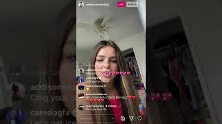 Addison Rae singing LIVE!!
