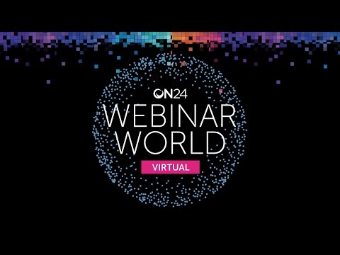 ON24 Webinar World Virtual shows business-to-business marketers how to engage hundreds, or even thousands of prospects, for almost an hour and convert them to highly-qualified leads with interactive, data-driven webinars.