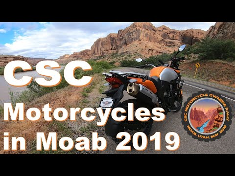 CSC Motorcycles owners rally Moab Utah 2019