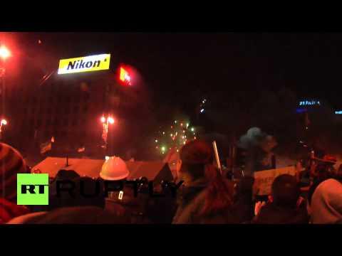 Ukraine: Barricades ablaze on Maidan