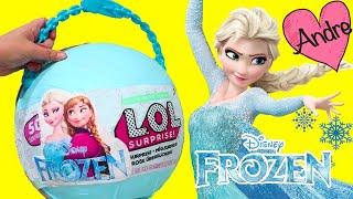 Bola gigante DIY de Frozen Elsa y Anna | Muñecas y juguetes con Andre para niñas y niños