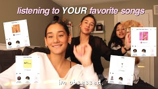 REACTING to YOUR favorite songs!!