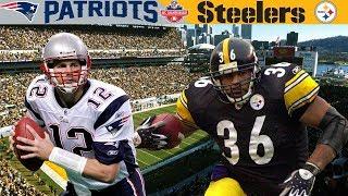 Brady's FIRST AFC Championship! (Patriots vs. Steelers, 2001 AFC Champ)