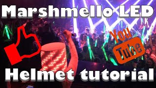 Marshmello LED Helmet tutorial
