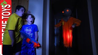 The Ghost Scarecrow Haunts Ethan and Cole! Sneak Attack Squad Halloween!