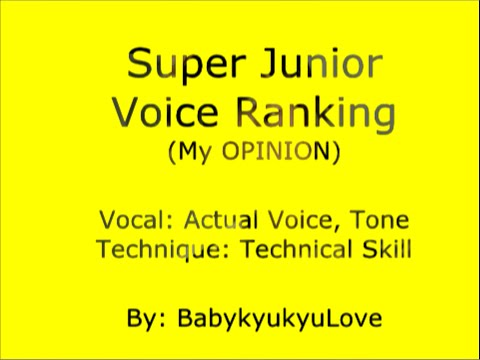 Super Junior Voice Ranking