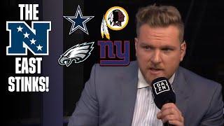 Pat McAfee Says NFC East STINKS