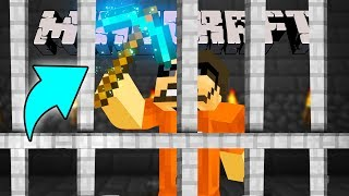 Minecraft: JAIL BREAK   MAKING THE ULTIMATE PICKAXE!! #6