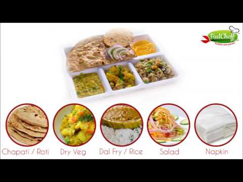 Veg thali in Train by FudCheff
