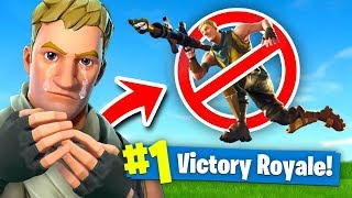 Fortnite But You're *NOT* Allowed to JUMP Fortnite: Battle Royale (Challenge)