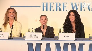 Mamma Mia! Here We Go Again - Press Conference - Cher, Lily James, Amanda Seyfried