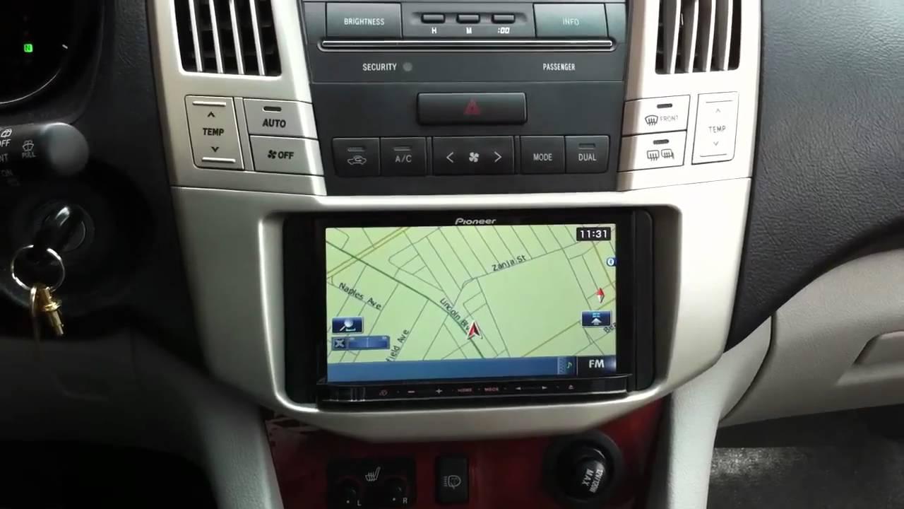 Pioneer Avic Z120bt Lexus Rx330 Navigation Bluetooth Ipod