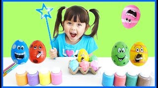 Learn Colors With Magic Easter Eggs Fun Play Nursery Rhyme Color Song Open Egg Surprises For Kids