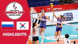 RUSSIA vs. KOREA - Highlights   Women's Volleyball World Cup 2019