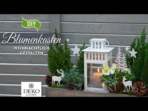 DIY: weihnachtlicher Blumenkasten schnell gestaltet | How to | Deko Kitchen