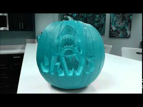 Freaky Psychedelic Jaws Pumpkin