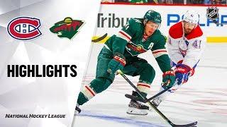 Canadiens @ Wild 10/20/19 Highlights