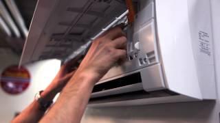 Varmepumpe-Hvordan rense filter på General Varmepumpe sin designmodell