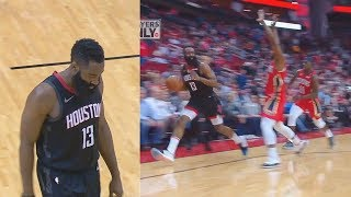 James Harden Cries About A No-Call Foul & Just Walks Out Of Bounds Costing Rockets The Game!