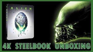 Alien 4K UHD Blu-Ray Zavvi Exclusive Steelbook Unboxing