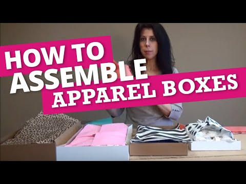 How to Assemble Apparel Boxes & Add Tissue Paper