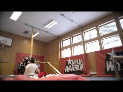 Ninjawarrior på Alfaskolan