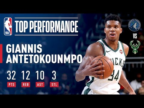 Giannis Antetokounmpo's Triple-Double Leads Bucks in Match-Up with Timberwolves | 2018 NBA Preseason