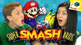 SUPER SMASH BROS. (N64) (Teens React: Retro Gaming)