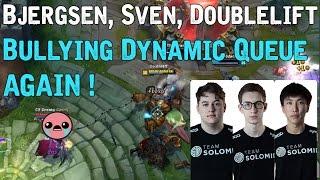 Bjergsen, Sven, Doublelift Bullying Dynamic Queue Again ! ft Hauntzer, Sneaky, Turtle