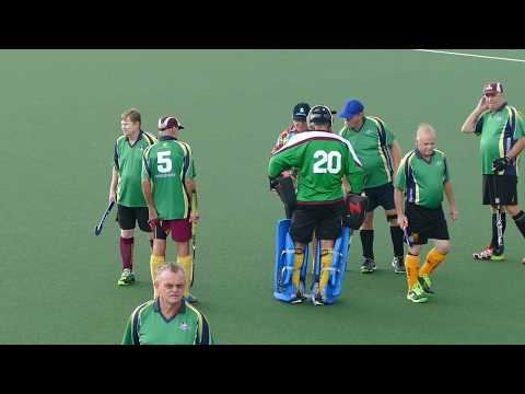 Over 60 mens hockey. Queensland State Titles Hervey Bay 2017