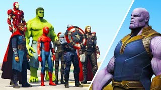 GTA 5 - THE AVENGERS vs THANOS!