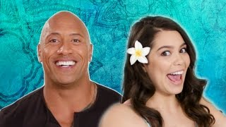 "The Rock Takes The ""Which Disney Princess Are You?"" Quiz With The Cast Of Moana"
