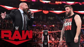 Kevin Owens holds his ground against Triple H: Raw Exclusive, Nov. 18, 2019