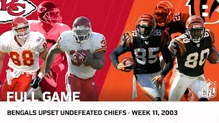 Bengals vs. 9-0 Chiefs (Week 11, 2003) | NFL Full Game